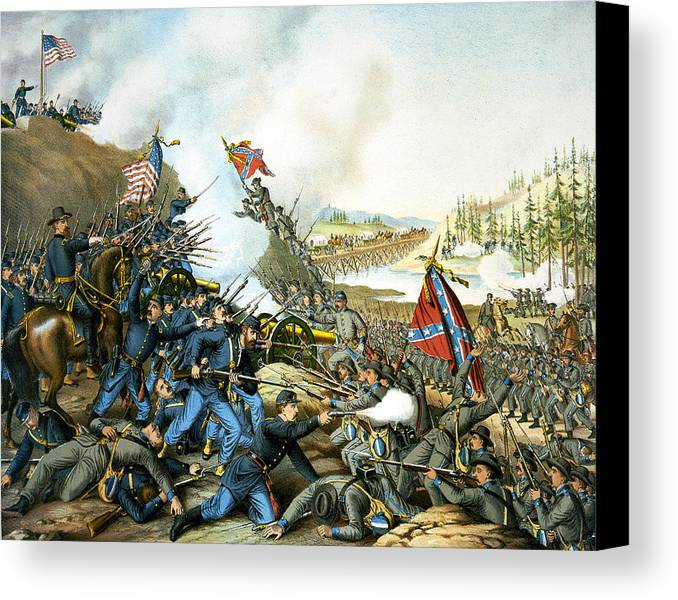 Franklin Tennessee Canvas Print featuring the digital art Battle Of Franklin by Unknown