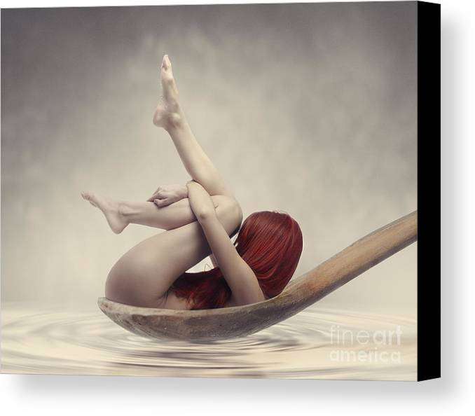 Woman Canvas Print featuring the photograph Beauty Bath by Jelena Jovanovic