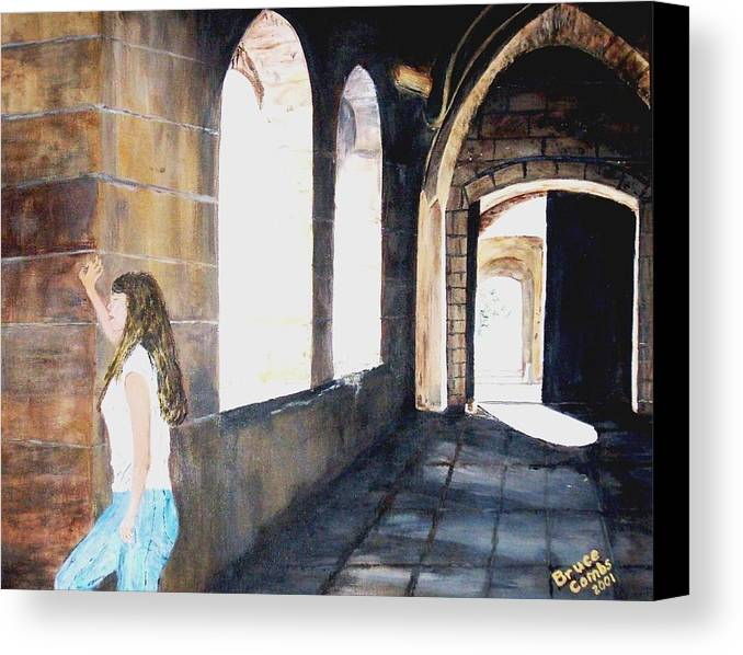 Cloisters Canvas Print featuring the painting Cloisters by Bruce Combs - REACH BEYOND