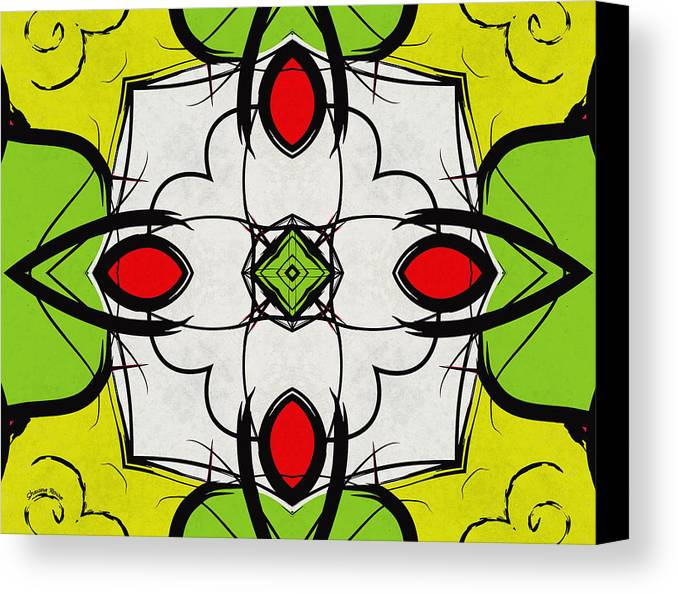 Kaleidoscope Canvas Print featuring the digital art Color Symmetry by Shawna Rowe