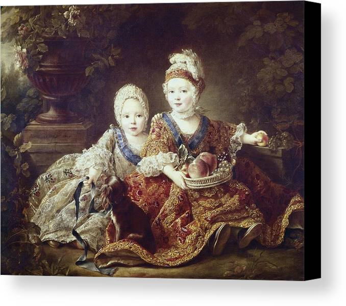 Horizontal Canvas Print featuring the photograph Drouais, Fran�ois Hubert 1727-1775. The by Everett