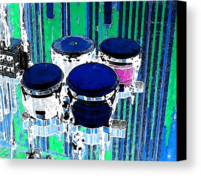 Drumbs Canvas Print featuring the digital art Drums by Philip Dammen