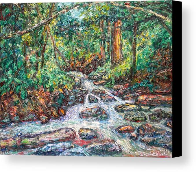 Kendall Kessler Canvas Print featuring the painting Fast Water Wildwood Park by Kendall Kessler