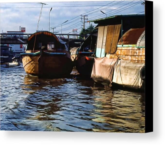 Canvas Print featuring the photograph Fishing Boats by Cathy Anderson