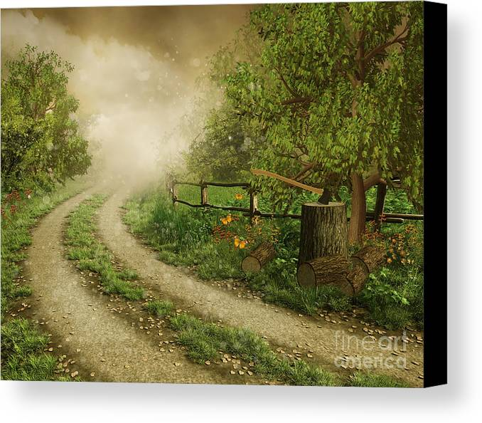 Foggy Road Canvas Print featuring the photograph Foggy Road by Boon Mee