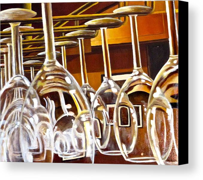 Wine Painting Canvas Print featuring the painting Fully Stocked by Tim Eickmeier