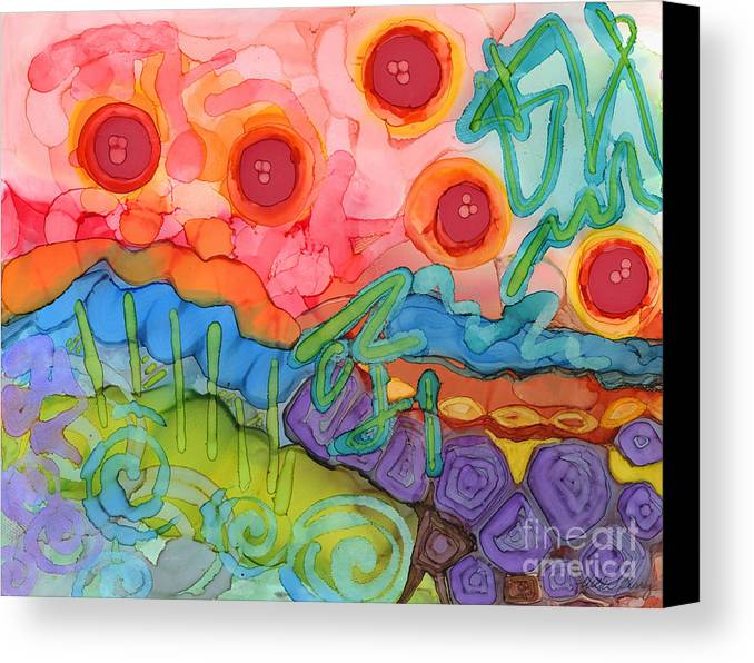 Abstract Canvas Print featuring the painting Graffiti On The Wall Of My Mind by Vicki Baun Barry