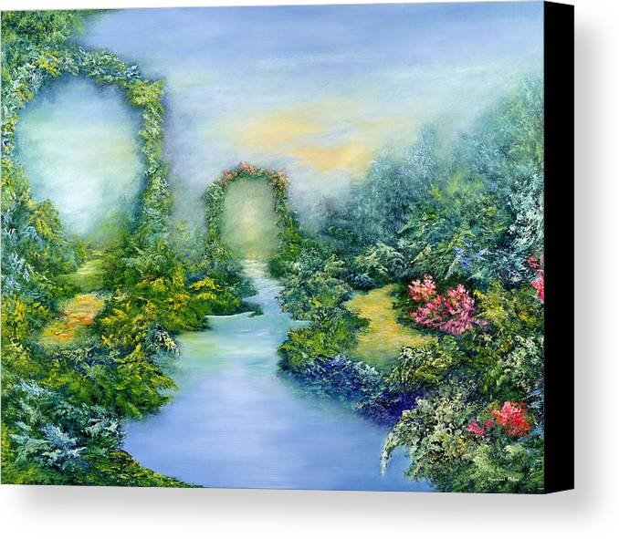 Garden Canvas Print featuring the painting Homeward Journey by Hannibal Mane