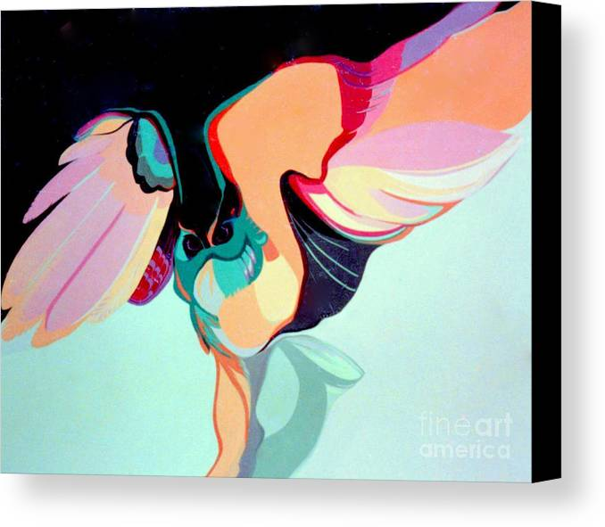 Bird Canvas Print featuring the painting Hooters by Marlene Burns