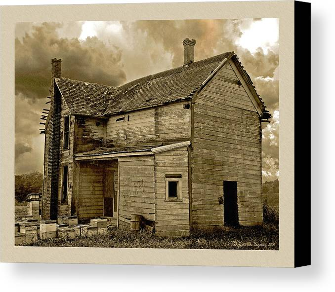 Haunted House Canvas Print featuring the photograph If The House Is Rockin' . . . by Everett Bowers
