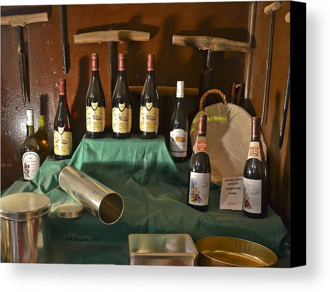Wine Canvas Print featuring the photograph Inside The Wine Cellar by Allen Sheffield