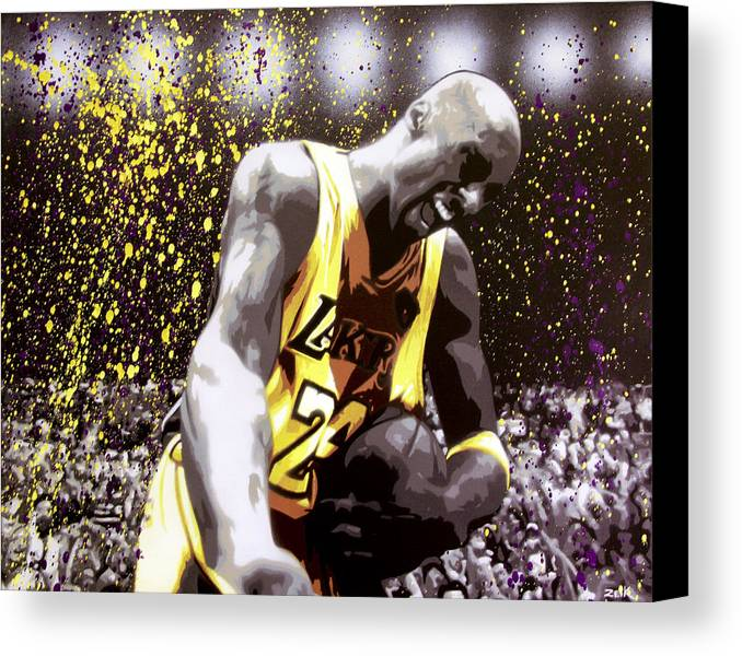 Kobe Canvas Print featuring the painting Kobe by Bobby Zeik