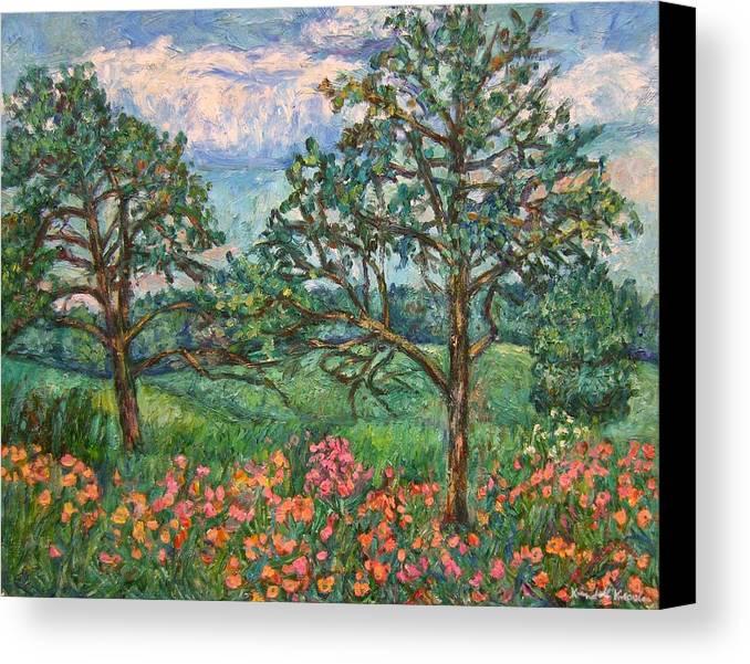 Landscape Canvas Print featuring the painting Kraft Avenue In Blacksburg by Kendall Kessler