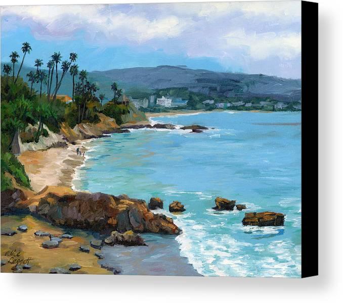 Laguna Beach Canvas Print featuring the painting Laguna Beach Winter by Alice Leggett