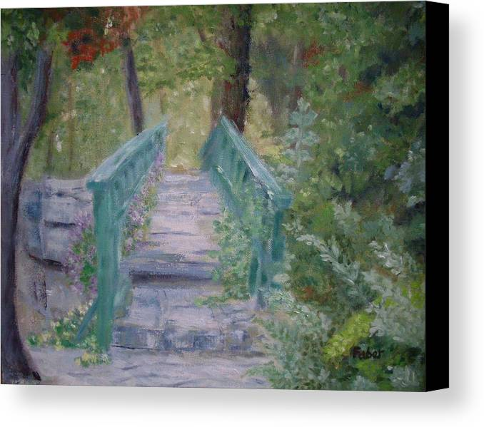 Foliage Canvas Print featuring the painting Lead The Way by Dawn Faber