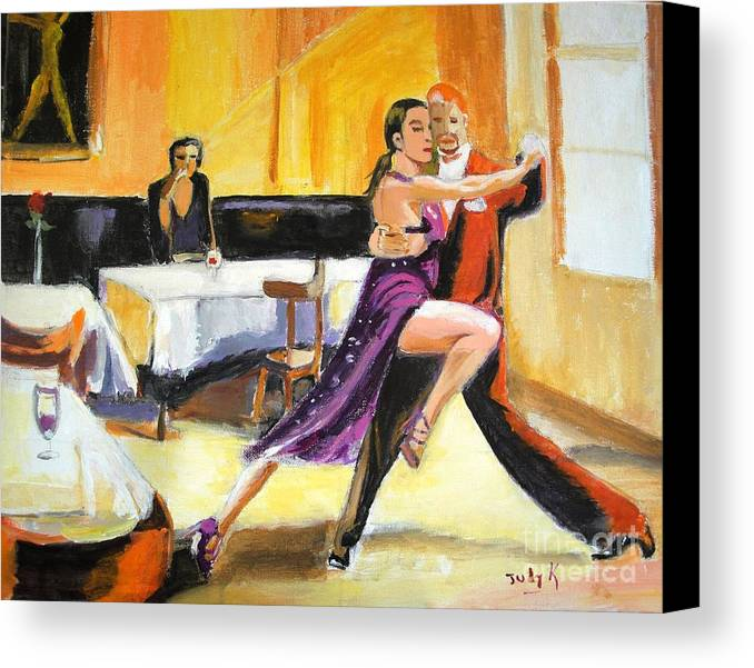 Dance Canvas Print featuring the painting Lone Audience by Judy Kay