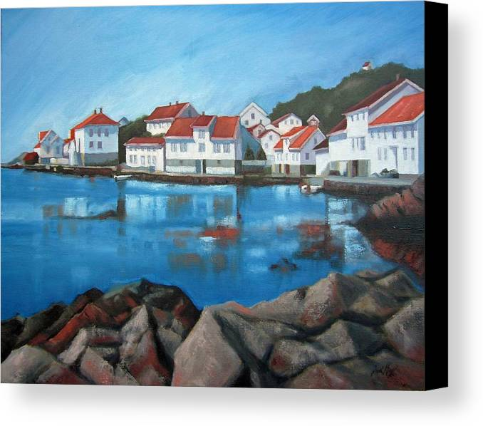 Loshavn Canvas Print featuring the painting Loshavn by Janet King