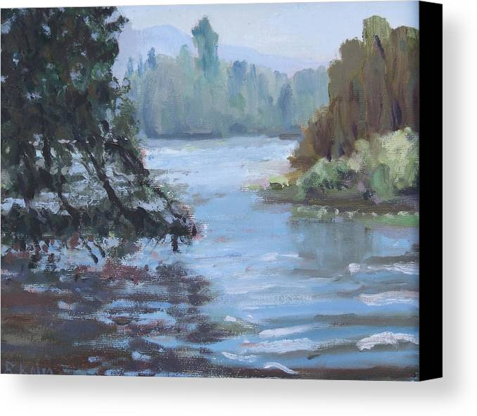 Canvas Print featuring the painting Marymoor Park Wa by Raymond Kaler