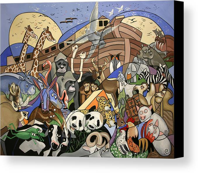 Noahs Ark Canvas Print featuring the painting Noahs Ark by Anthony Falbo
