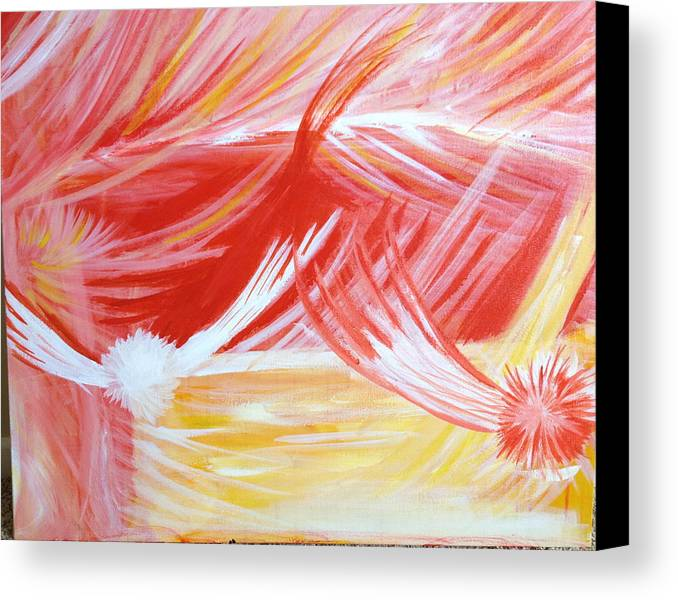 Abstract Canvas Print featuring the painting On The Flaming Wings Of Angels by Ann Lauren