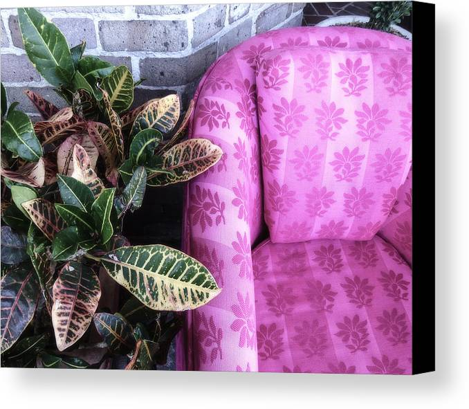 Pink Canvas Print featuring the photograph Pink Chair by Jeanne Brophy