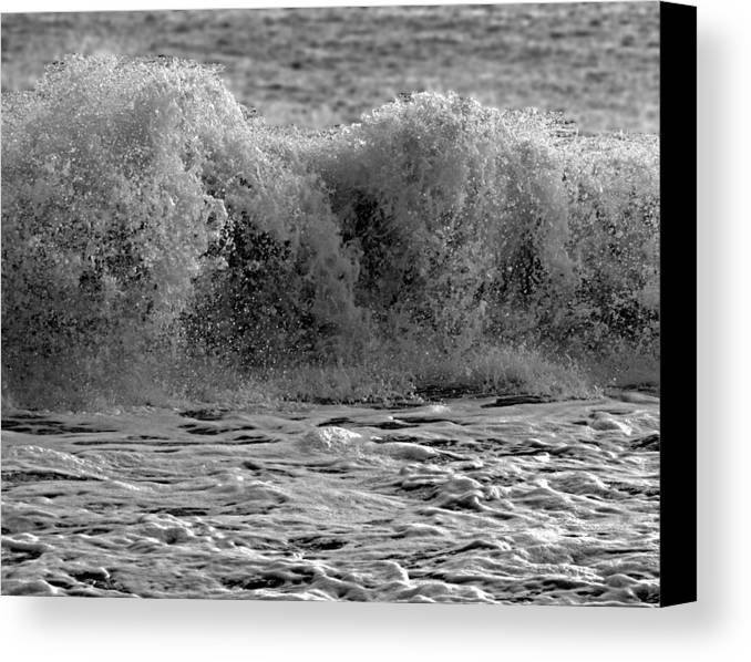 Waves Canvas Print featuring the photograph Roar by Paul Pecora