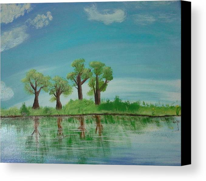 Trees Canvas Print featuring the painting Spring Trees by Joshua Doucet
