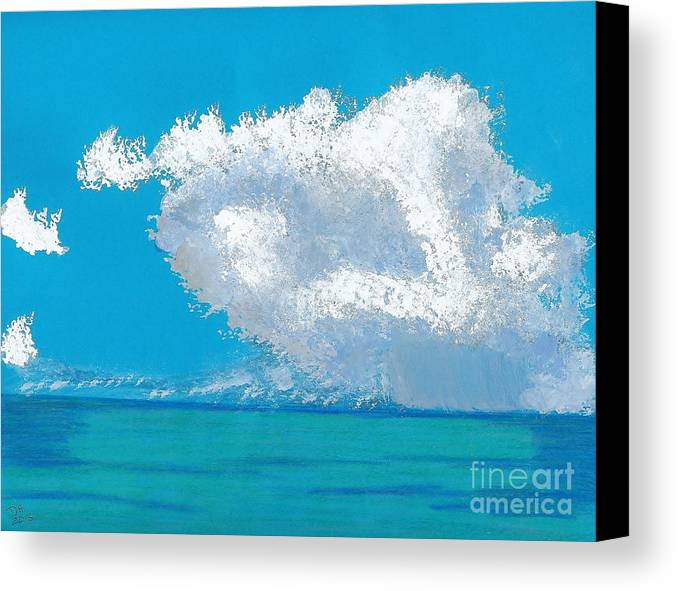 Beach Canvas Print featuring the painting Storm Off The Beach by D Hackett