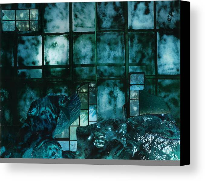 Stormy Night Canvas Print featuring the mixed media Stormy Night by Denise Mazzocco