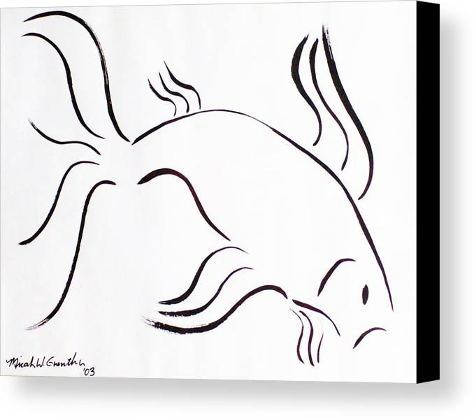 Abstract Canvas Print featuring the drawing Strength by Micah Guenther