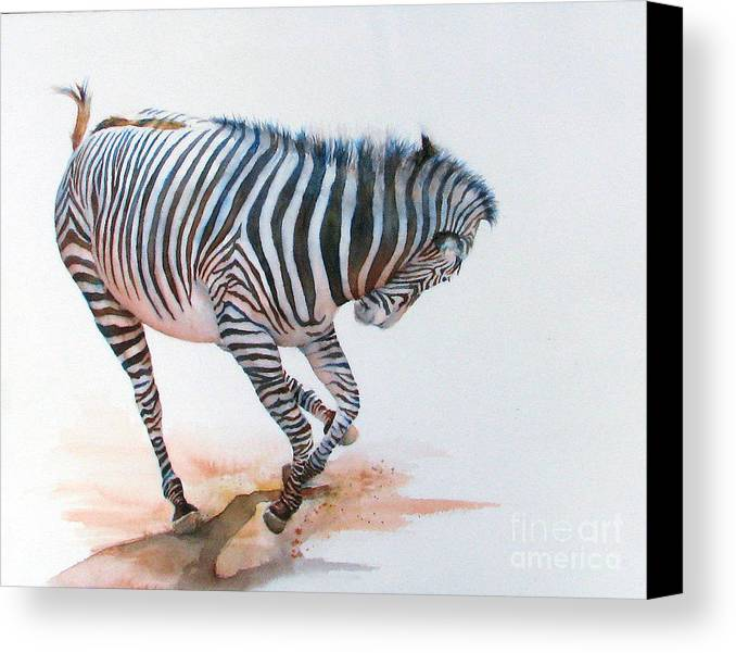 Zebra Canvas Print featuring the painting Stripes IIi by Patricia Henderson