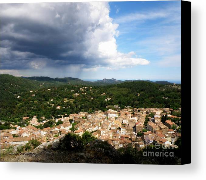 Provence Canvas Print featuring the photograph Sun And Rain by Lainie Wrightson