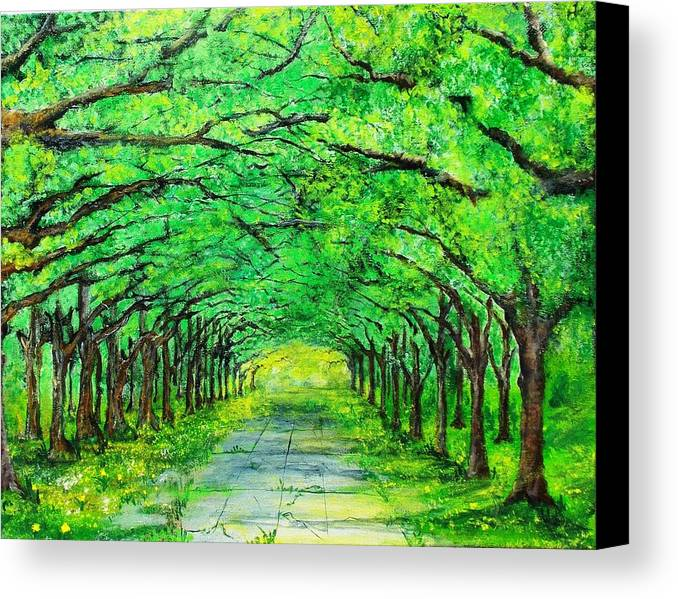 Trees Canvas Print featuring the painting The Canopy by Walter Carrick