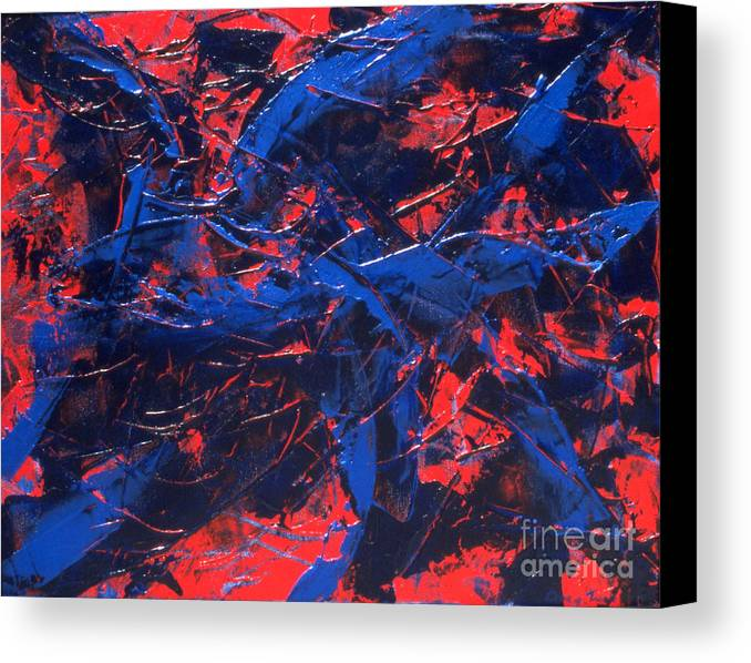 Abstract Canvas Print featuring the painting Transitions Iv by Dean Triolo