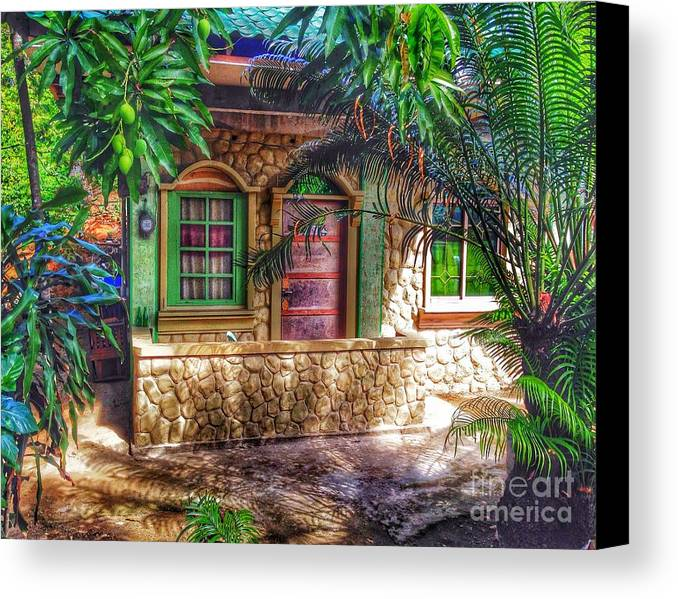 Tropical House Canvas Print featuring the photograph Tropical House by Michael Arend