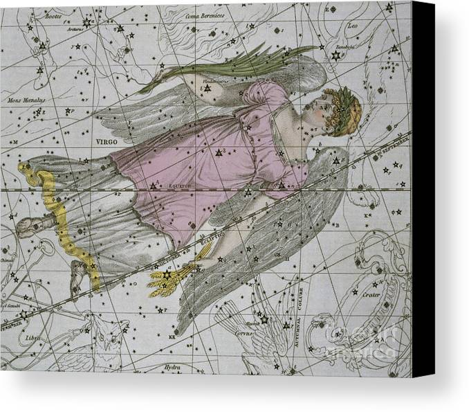 Zodiacal Canvas Print featuring the painting Virgo From A Celestial Atlas by A Jamieson