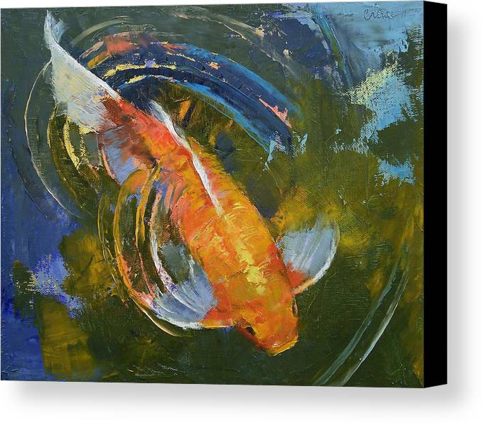 Water Canvas Print featuring the painting Water Ripples by Michael Creese