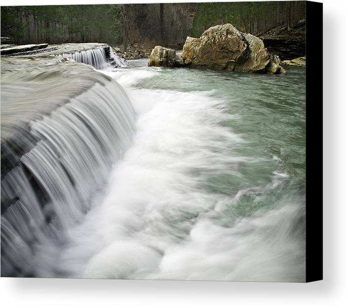 Arkansas Canvas Print featuring the photograph 0804-0012 Six Finger Falls 1 by Randy Forrester
