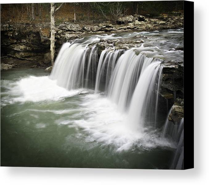 Arkansas Canvas Print featuring the photograph 0805-005b Falling Water Falls 2 by Randy Forrester