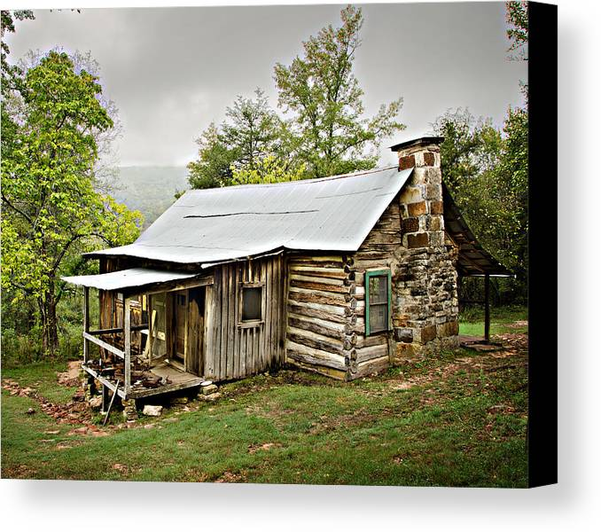 Log Cabin Canvas Print featuring the photograph 1209-1144 Historic Villines Homestead by Randy Forrester