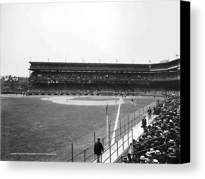 1912 Canvas Print featuring the photograph Baseball Game, C1912 by Granger