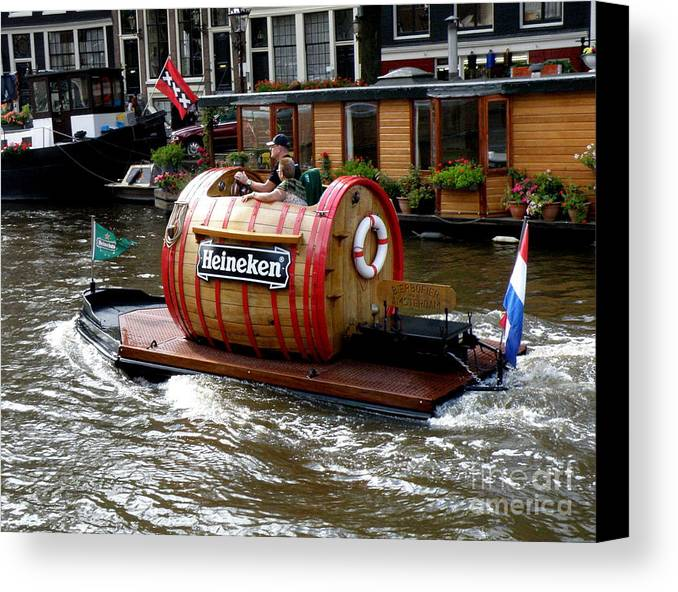 Boat Canvas Print featuring the photograph Beer Boat by Lainie Wrightson