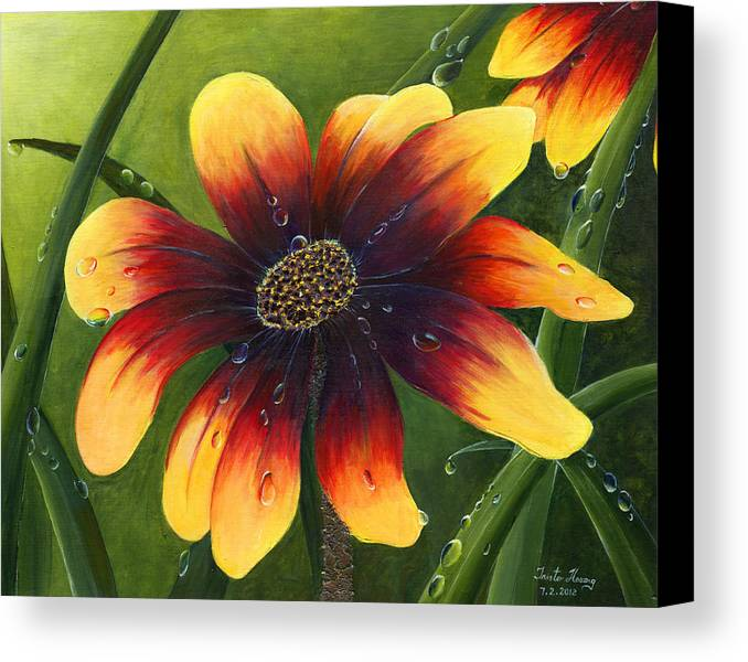 Flower Canvas Print featuring the painting Blanket Flower by Trister Hosang