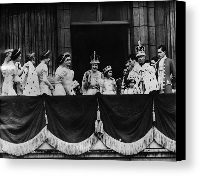 1930s Canvas Print featuring the photograph British Royal Family. From Center, L-r by Everett
