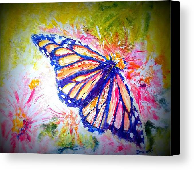 Butterfly Canvas Print featuring the mixed media Butterfly Beauty 3 by Raymond Doward