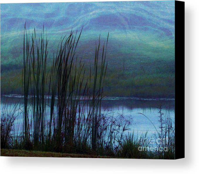 Cattails Canvas Print featuring the photograph Cattails In Mist by Judi Bagwell