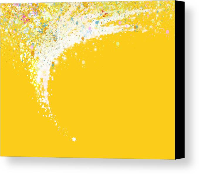 Art Canvas Print featuring the painting Colorful Curved by Setsiri Silapasuwanchai