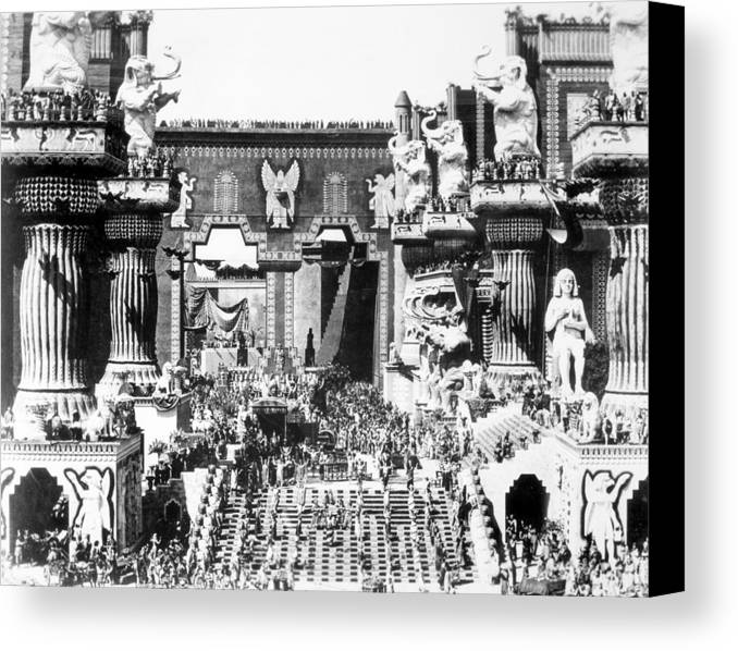 -ecq- Canvas Print featuring the photograph Griffith: Intolerance 1916 by Granger