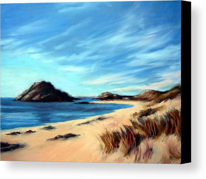 Havik Beach Canvas Print featuring the painting Havik Beach by Janet King