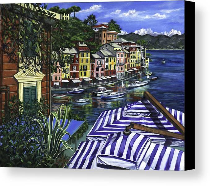 Portofino Canvas Print featuring the painting Portofino by Lisa Reinhardt